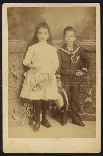 Boy and girl, Barbados.