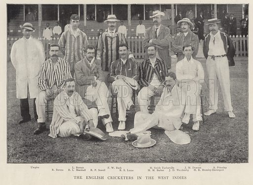 The English Cricketers in the West Indies. Illustration for Black and White, 9 March 1895.