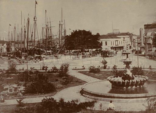 Bridgetown Harbour, circa 1900.