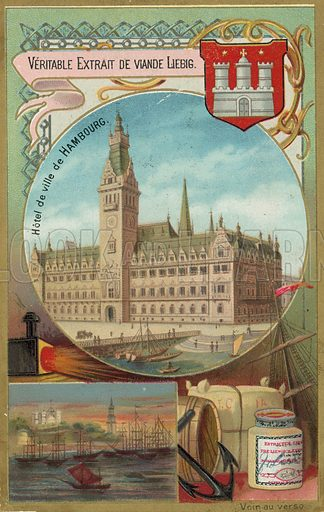 Hamburg.  Liebig card, late 19th century/early 20th century.