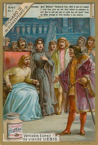 Richard III and Edward IV.  Liebig card, late 19th century/early 20th century.