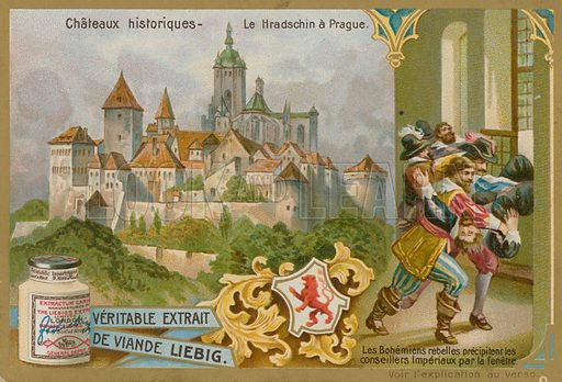 Hradschin in Prague. Liebig card, late 19th century/early 20th century.