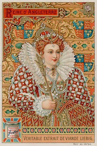The Queen of England.  Liebig card, late 19th century/early 20th century.