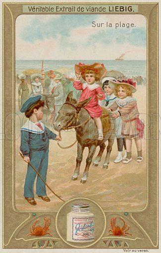 Children Having Donkey Rides