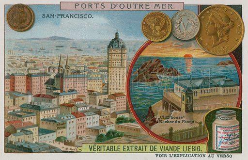 San Francisco.  Liebig card, late 19th century/early 20th century.