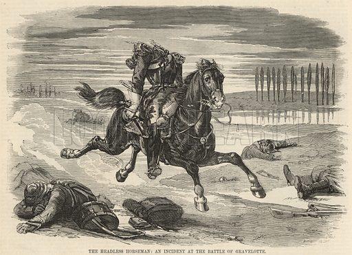 The headless horseman; An incident at the Battle of Gravelotte; from The Days' Doings, 3 September 1870.