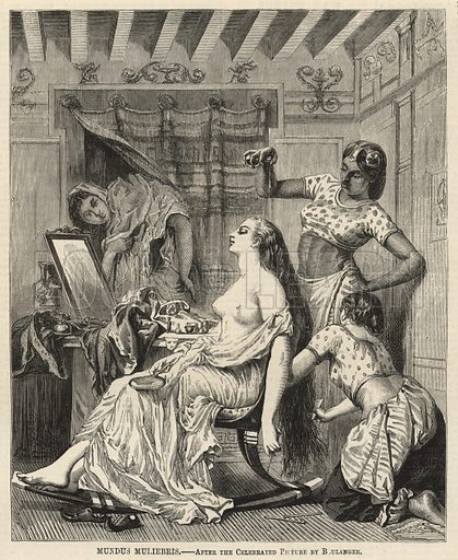 Mundus muliebris, after the celebrated picture by Boulanger; from The Days' Doings, 17 September 1870.