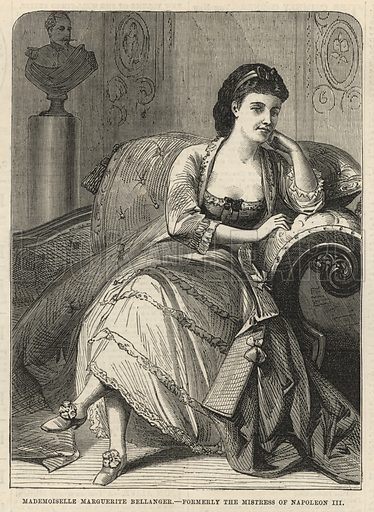 Mademoiselle Marguerite Bellanger, formerly the mistress of Napoleon III; from The Days' Doings, 31 December 1870.