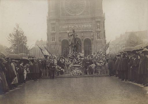Paris, Fete of Jeanne d'Arc.  French War Office Official Photograph.