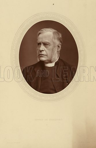 John Percival, the first Headmaster of Clifton College, later taking the Presidency of Trinity College, Oxford. From Trinity he went to Rugby to become Headmaster of Rugby School before becoming Bishop of Hereford. Photography by Lock & Whifield. Woodburytype published in Men of Mark, published by Sampson Low, circa 1880.