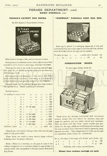 Page from the Army & Navy Catalogue, April 1902.