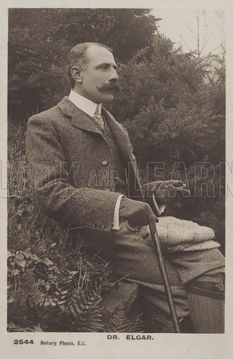 Sir Edward Elgar (1857–1934), English composer.