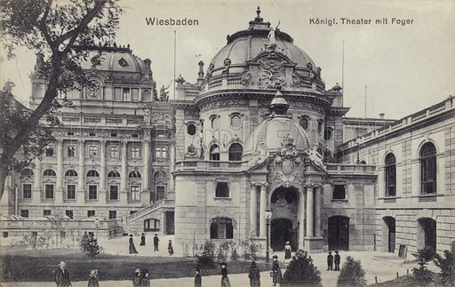 Royal Theatre, Wiesbaden, Germany. Today known as the Hessisches Staatstheater Wiesbaden (Hesse State Theatre Wiesbaden).