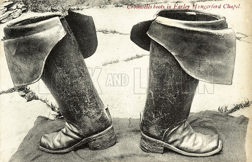 Oliver Cromwell's boots, Farley, Hungerford Chapel