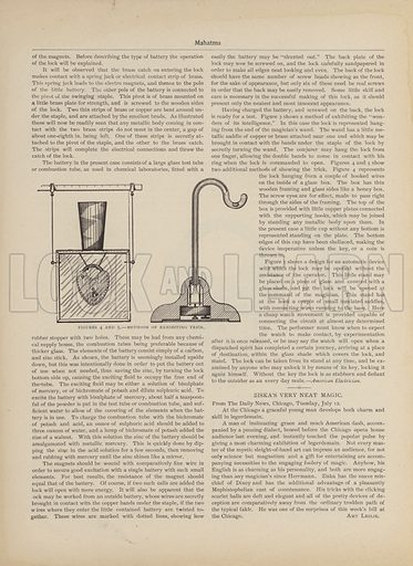 Methods Of Exhibiting Trick. Page from Mahatma magazine, September 1898.