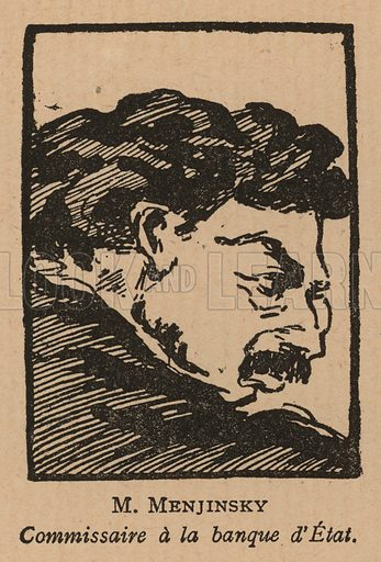 Vyacheslav Menzhinsky (1874-1934), Polish-Russian revolutionary and People's Commissar for Finance in Bolshevik Russia. Illustration from Histoire des Soviets (Paris, c1925).