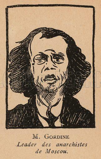 Abba Gordin (1887-1964), Russian anarchist revolutionary. Illustration from Histoire des Soviets (Paris, c1925).