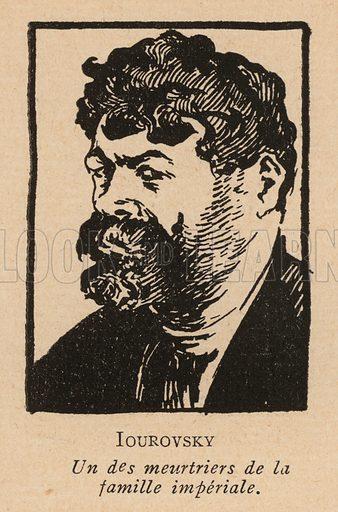 Yakov Yurovsky (1878-1938), Russian Bolshevik revolutionary and leader of the murderers of Tsar Nicholas II and his family. Illustration from Histoire des Soviets (Paris, c1925).