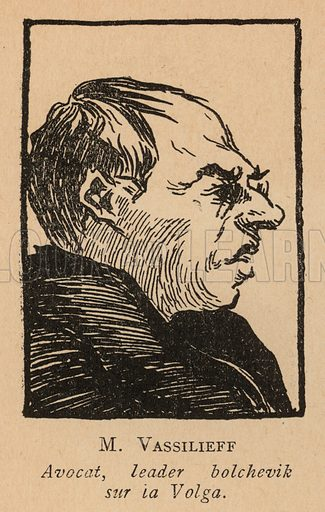 Vasilyev, Russian lawyer and leader of the Bolseviks on the Volga. Illustration from Histoire des Soviets (Paris, c1925).