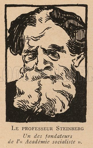 Professor Steinberg, one of the founders of the Socialist Academy after the Russian Revolution. Illustration from Histoire des Soviets (Paris, c1925).