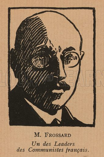 Ludovic-Oscar Frossard (1889-1946), French communist politician. Illustration from Histoire des Soviets (Paris, c1925).