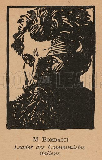 Nicola Bombacci (1879-1945), Italian communist politician. Illustration from Histoire des Soviets (Paris, c1925).