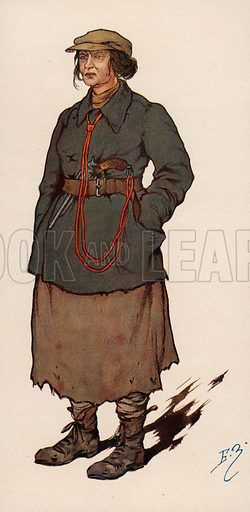 Woman agent of the Cheka, the Soviet secret police established after the Russian Revolution. Illustration from Histoire des Soviets (Paris, c1925).