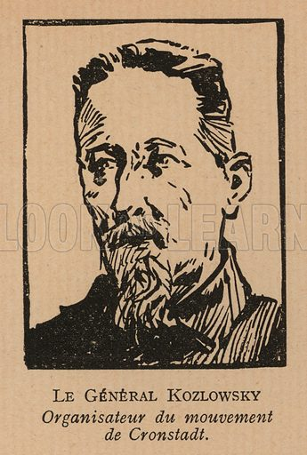 Alexander Kozlovsky (1864-1940), Russian general who organised the defence of Kronstadt against the Red Army during the rebellion of March 1921. Illustration from Histoire des Soviets (Paris, c1925).