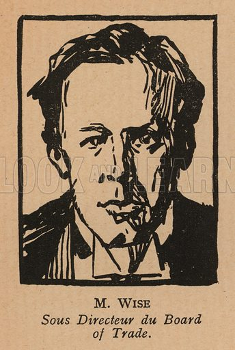 Frank Wise (1885-1933), British civil servant at the Board of Trade, who led the negotiations resulting in the signing of the Anglo-Soviet Trade Agreement in 1921. Illustration from Histoire des Soviets (Paris, c1925).