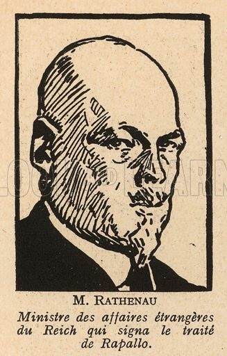 Walther Rathenau (1867-1922), German politician and Foreign Minister who signed the Treaty of Rapallo between Weimar Germany and Soviet Russia in 1922. Illustration from Histoire des Soviets (Paris, c1925).