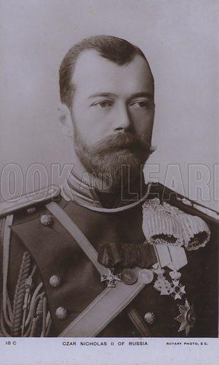 Nicholas II (1868-1918), Tsar of Russia. Postcard, early 20th Century.