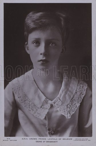Crown Prince Leopold (1901-1983), later King Leopold III of Belgium. Postcard, early 20th Century.