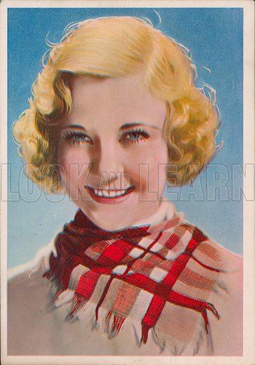 Una Merkel (1903-1986), American Hollywood film star and actor. Postcard.
