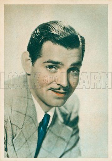 Clark Gable (1901-1960), American Hollywood film star and actor. Postcard.