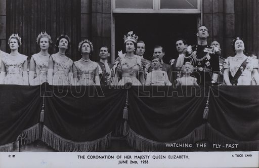 The coronation of her majesty Queen Elizabeth, 2 June 1953. Postcard, 20th century.