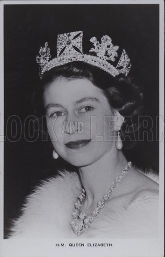 HM Queen Elizabeth. Postcard, 20th century.