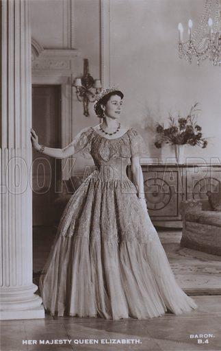 Her majesty Queen Elizabeth. Postcard, 20th century.