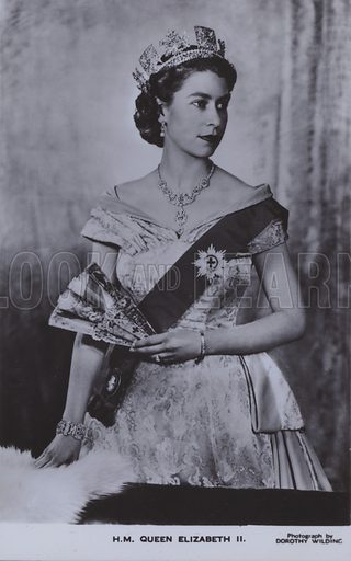 HM Queen Elizabeth II. Postcard, 20th century.