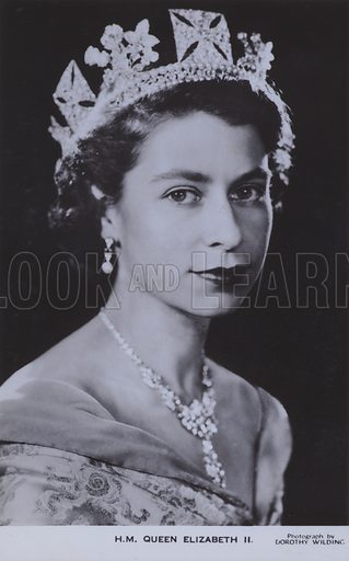 HM Queen Elizabeth II. Postcard, 20th century.