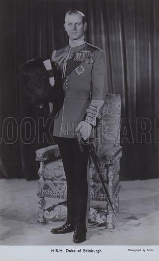 HRH Duke of Edinburgh. Postcard, 20th century.