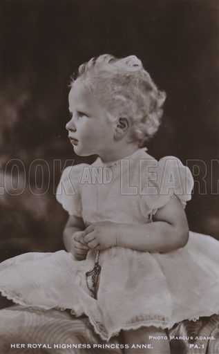 Her royal highness Princess Anne. Postcard, 20th century.