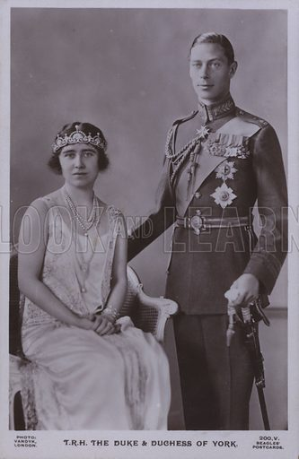 TRH The Duke and Duchess of York. Postcard, 20th century.