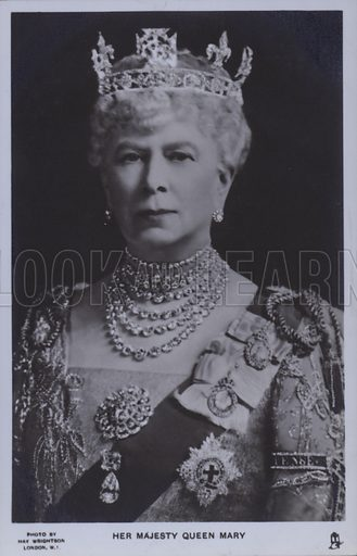 Her majesty Queen Mary. Postcard, 20th century.