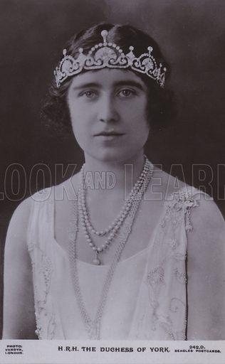 HRH The Duchess of York. Postcard, 20th century.
