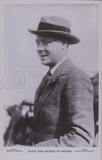 HRH The Prince of Wales. Postcard, 20th century.