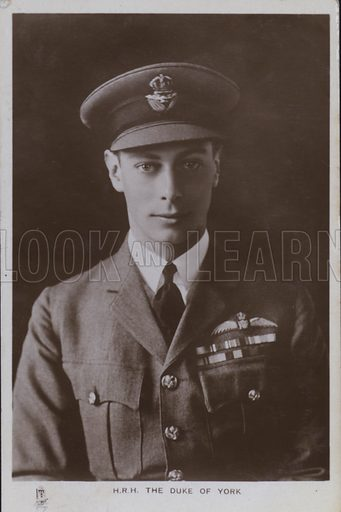 HRH The Duke of York. Postcard, 20th century.