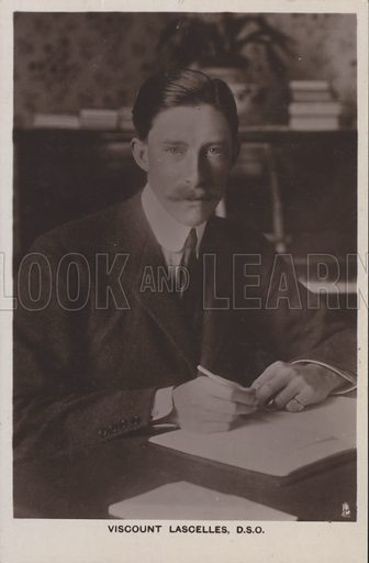 Viscount Lascelles, DSO. Postcard, 20th century.