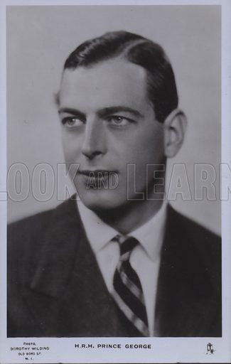 HRH Prince George. Postcard, 20th century.
