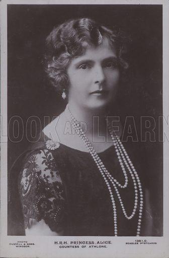HRH The Princess Alice. Countess of Athlone. Postcard, 20th century.