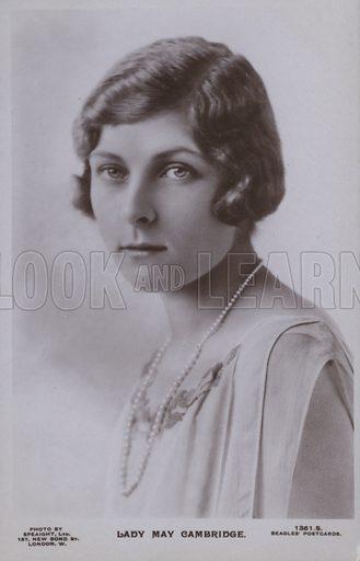 Lady May Cambridge. Postcard, 20th century.